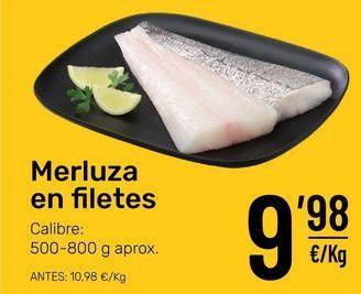 Oferta de Filetes de merluza por 9,98€