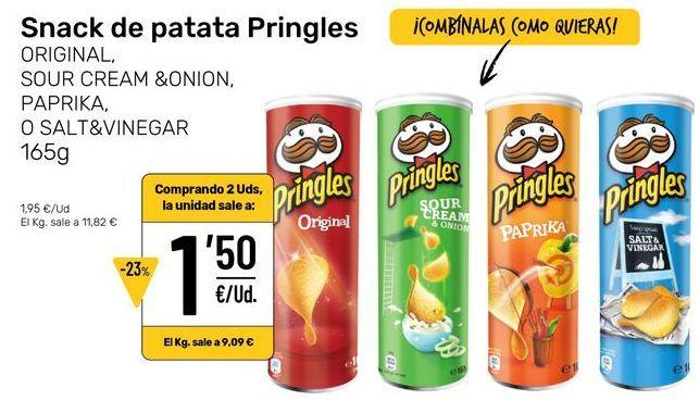 Oferta de Snacks por 1,5€