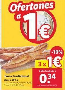 Oferta de Barra tradicional  por 1€