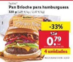 Oferta de Pan brioche para hamburguesas  por 0,79€
