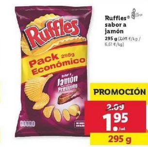 Oferta de Patatas fritas Ruffles por 1,95€