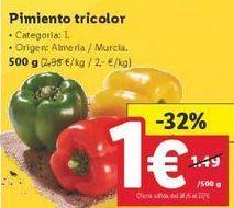 Oferta de Pimientos tricolor  por 1€