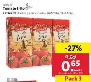Oferta de Tomate frito Freshona por 0,65€