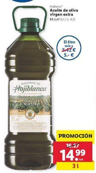 Oferta de Aceite de oliva virgen extra Hojiblanca por 14,99€