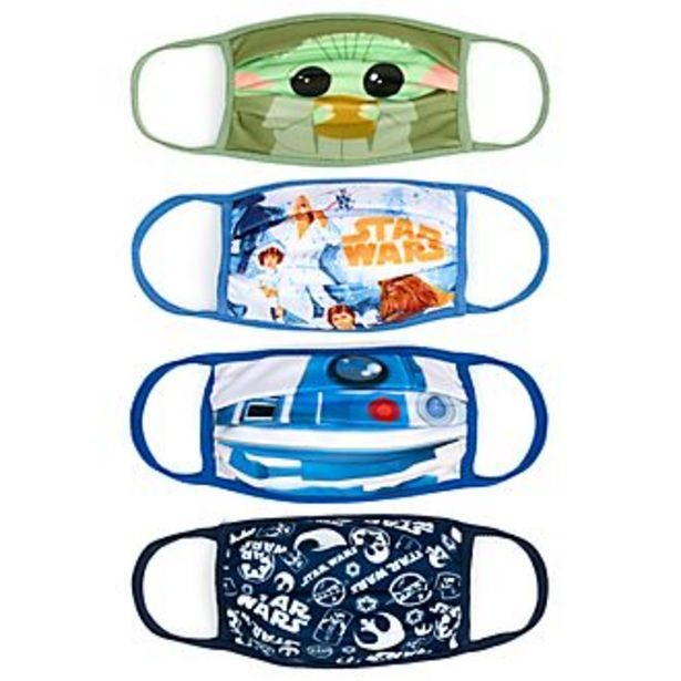 Oferta de Mascarillas de tela Star Wars, Disney Store (4 u.) por 4,4€