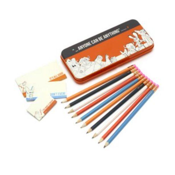 Oferta de Lata para lápices y notas adhesivas Zootrópolis, Disney Store por 14€
