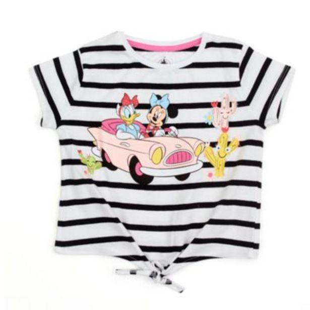 Oferta de Camiseta con nudo delantero Minnie y Daisy para niña, Disney Store por 10,5€