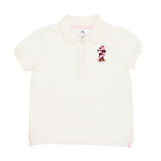 Oferta de Polo Minnie Mouse crema infantil, Disney Store por 11,9€