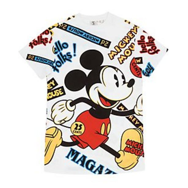 Oferta de Camiseta larga Mickey Mouse para mujer, Disney Store por 18€