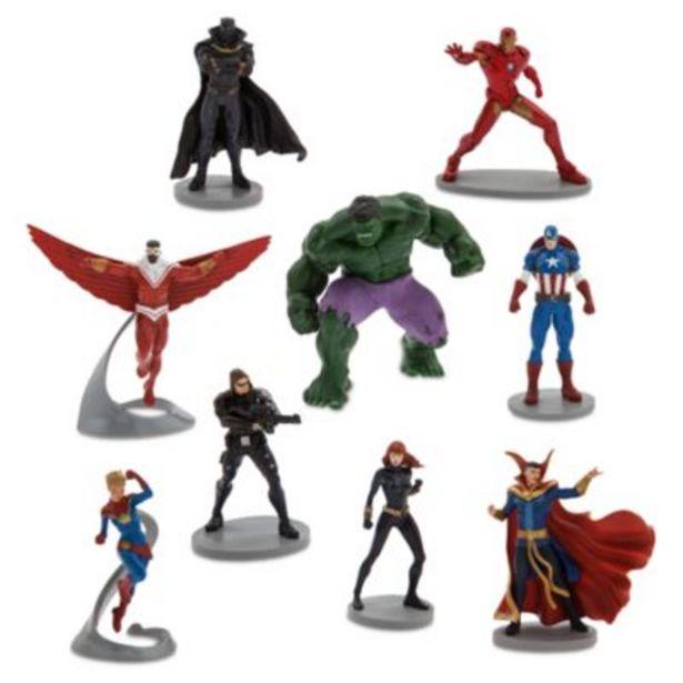 Oferta de Set juego figuritas cómic Los Vengadores, Deluxe, Disney Store por 35,9€