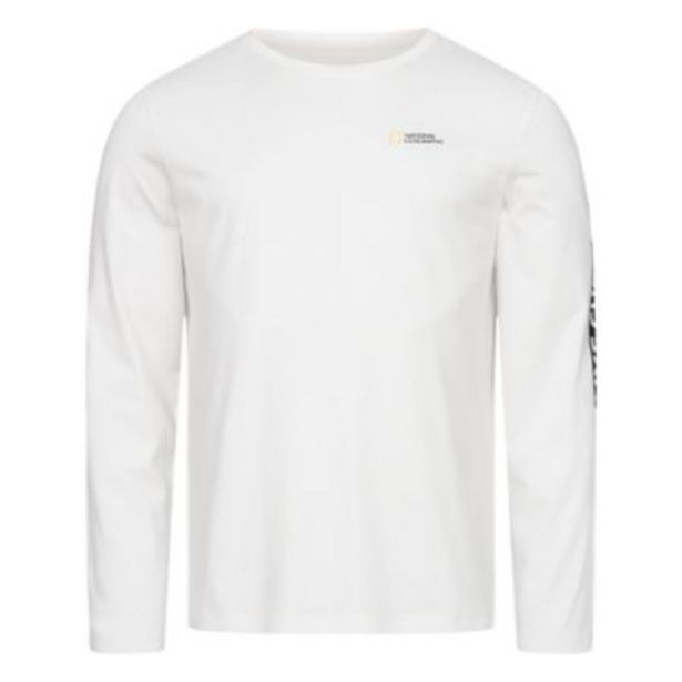 Oferta de Camiseta manga larga National Geographic para adultos, Disney Store por 18€