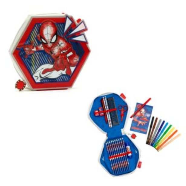 Oferta de Estuche artículos papelería con cremallera Spider-Man, Disney Store por 14€