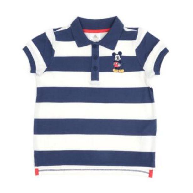 Oferta de Polo Mickey Mouse con rayas en bloques infantil, Disney Store por 11,9€