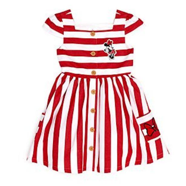 Oferta de Vestido a rayas infantil Minnie Mouse, Disney Store por 25,2€