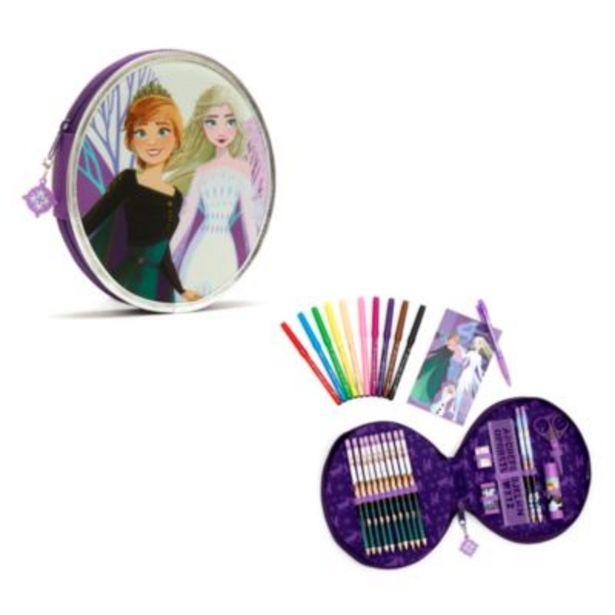 Oferta de Estuche artículos papelería con cremallera Frozen2, Disney Store por 14€