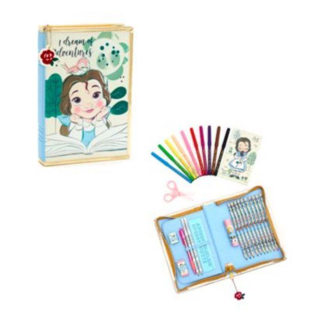 Oferta de Estuche artículos papelería con cremallera Bella, colección Disney Animators, Disney Store por 14€