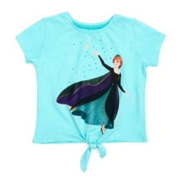 Oferta de Camiseta infantil con nudo delantero Reina Anna, Frozen 2, Disney Store por 7,5€