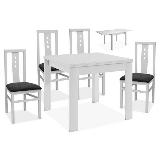 Oferta de Conjunto mesa y 4 sillas comedor Aneto en Ahorro Total por 335€