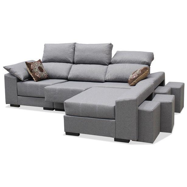 Oferta de Sofá chaise longue Amelia multipufs 260 cm. en Ahorro Total por 499€