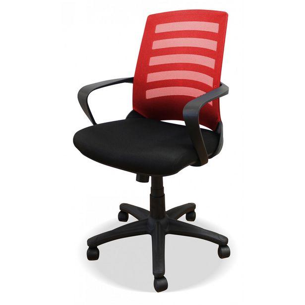 Oferta de Silla oficina Bianca roja en Ahorro Total por 99€