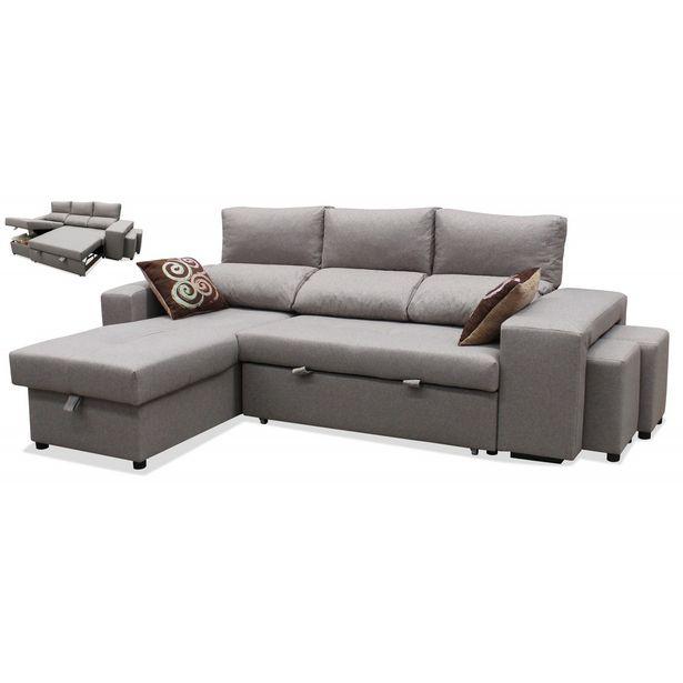 Oferta de Sofá chaise longue cama Estela 245 cm. en Ahorro Total por 699€