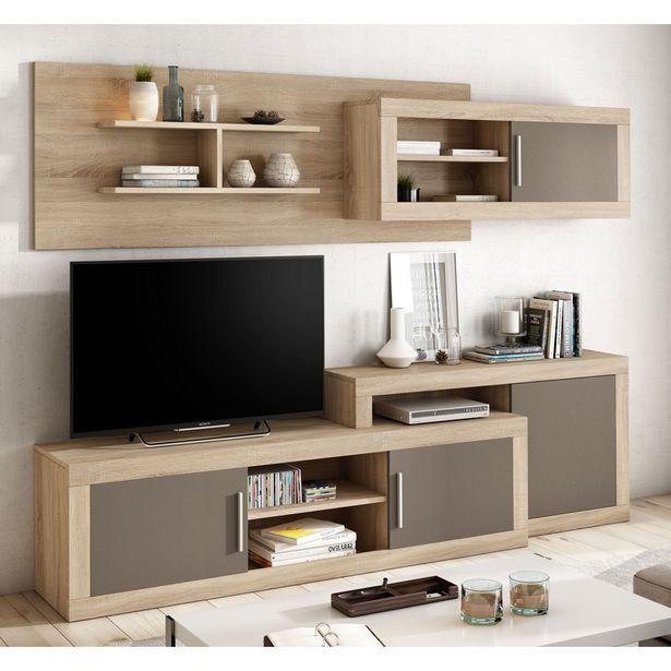 Oferta de Mueble de salón Málaga Cambrian-Moka 245 cm. en Ahorro Total por 329€