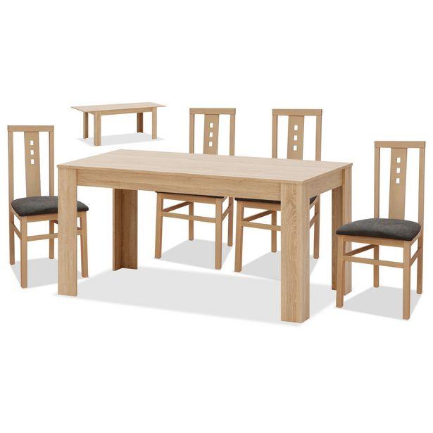 Oferta de Conjunto mesa y 4 sillas comedor cambrian Aneto en Ahorro Total por 319€