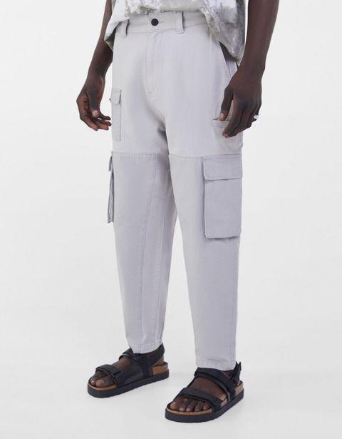 Oferta de Pantalón algodón loose cargo patchwork por 15,99€