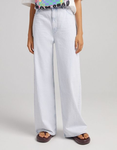 Oferta de Jeans wide leg por 15,59€