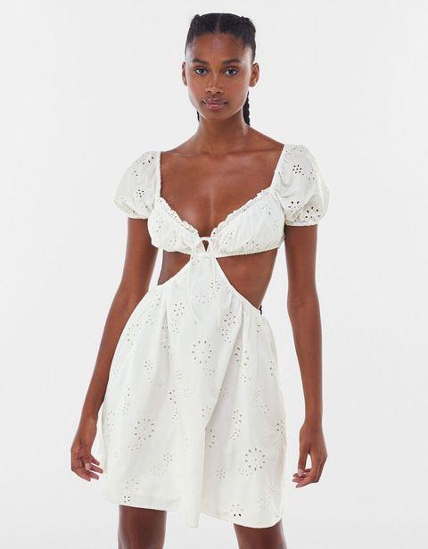 Oferta de Vestido bordado suizo cut out por 9,99€