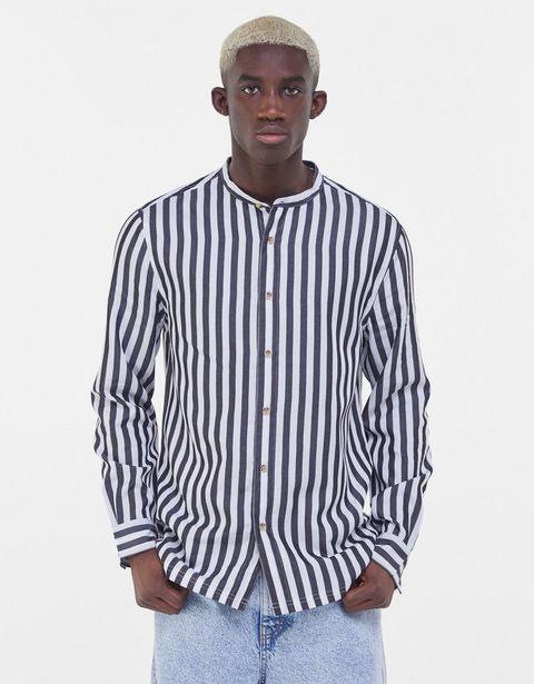 Oferta de Camisa TENCEL™ cuello mao rayas por 9,99€