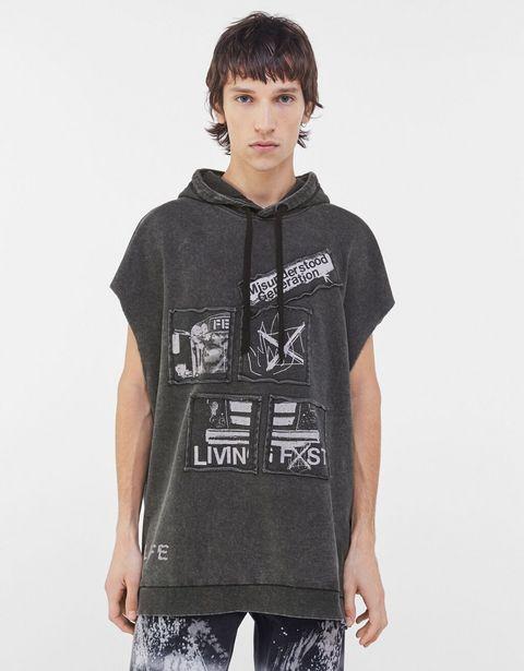 Oferta de Camiseta capucha worker acid wash por 9,99€