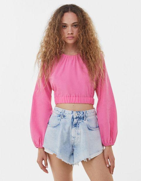 Oferta de Blusa rústica cintura elástica por 3,99€