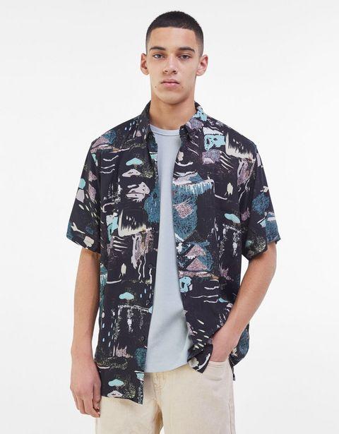 Oferta de Camisa print abstracto por 9,99€