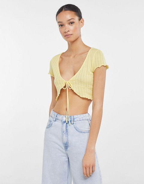 Oferta de Camiseta punto escote pico por 3,99€