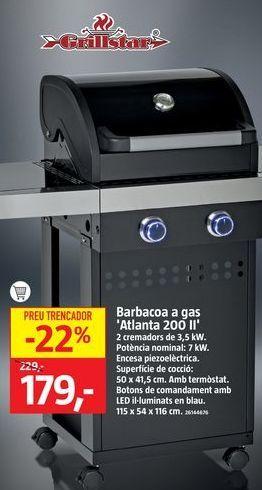Oferta de Barbacoa a gas Atlanta 200 por 179€