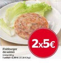 Oferta de Fishburger de salmón por