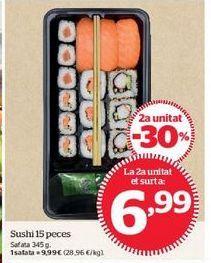 Oferta de Sushi 15 piezas por 6,99€