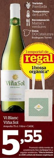 Oferta de Vino blanco por 5,55€