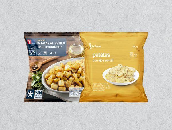 Oferta de Patatas al estilo mediterráneo o con ajo y perejil por 1,39€