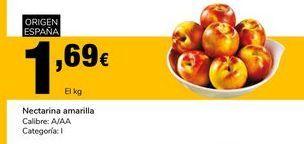 Oferta de Nectarina amarilla Calibre: A/AA Categoría:I por 1,69€