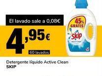Oferta de Detergente líquido Active Clean Skip por 4,95€