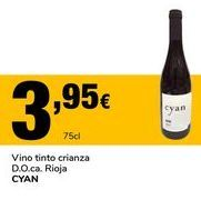Oferta de Vino tinto crianza D.O.ca. Rioja CYAN por 3,95€