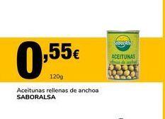 Oferta de Aceitunas rellenas de anchoa Saboralsa por 0,55€