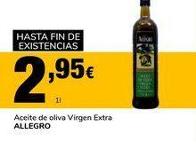Oferta de Aceite de oliva virgen extra Allegro por 2,95€