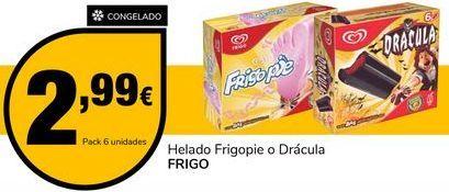 Oferta de Helados Frigopie o Drácula por 2,99€
