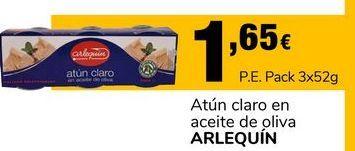 Oferta de Atún claro en aceite de oliva Arlequín por 1,65€