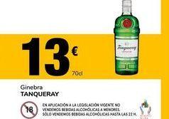 Oferta de Ginebra Tanqueray por 13€