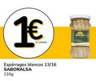 Oferta de Espárragos blancos 13/16 Saboralsa 110 g por 1€