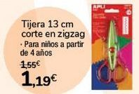 Oferta de Tijeras 13 cm corte en zigzag  por 1,19€